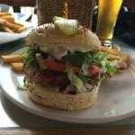 halibut burger. tasty