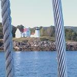 View of a lighthouse from the Lazy Jack II