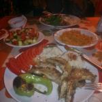 huge portion Lamb Chops + salad