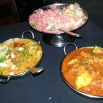 Three of the exquisite dishes