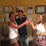 Dean, his Mum and sister at Albet i Noia