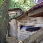 Jolie nuit dans la cabane Sterenn. Literie douillette ... Cabane agréable ...