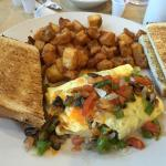 Western Omelet with Home Fries and Toast