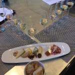 Fun way to enjoy sparkling wine and cheese