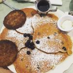 Most delicious sausage and blueberry pancakes I've ever had.