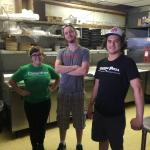 The Conan pizza team. Awesome pizza and great service. The pizza is the best around. Even has an