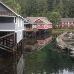 Telegraph Cove - room was in the red building by the dock
