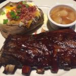 Half Rack of Ribs with sides