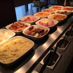 Hot breakfast buffet - superbly cooked and constantly topped up.