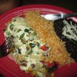 Veggie enchilada. This was half!!!!