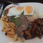 Good Peruvian restaurant, generous proportions of food, well located, Cusqueña beer, Inca Kola s