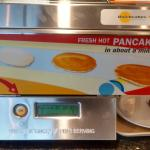Free breakfast on 5th fl overlooks city - pancake machine
