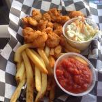 Popcorn shrimp with fries
