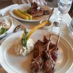 Lamb Chops with Malanga Mash