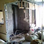 demolished walls on 15 floor