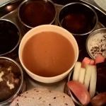 Soup, Gravy, Roti, & gulab jamun