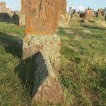 beautiful khachkar with tombstone