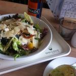 Orientalischer Salat und Wrap