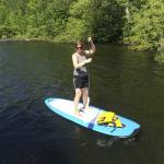 Paddleboarding on Lake Wallenpaupack