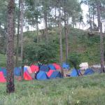 Tent pitching and night-out