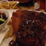 Chicken schnitz with mushroom sauce