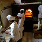Wood fired oven makes good pizza!