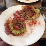 avocado & bacon toast