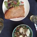 croq zalm + salade geitekaas