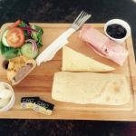 Our famous Ploughman's Lunch! It's a whopper!