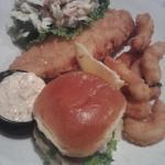 Lobster slider and fried seafood