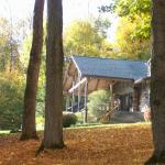 The Chalet in Fall from the driveway