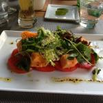 Delicious vegetarian appetizer/salad