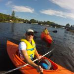 out on oxtongue lake on the free kayaks