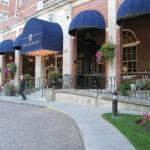 The lovely entrance to The Lord Nelson Hotel and Suites