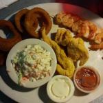 Catfish & Shewered Shrimp