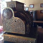 Old brass cash register.