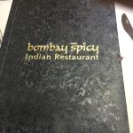 Front of menu