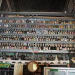 A collection of bottles from all over.