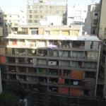 View on neighborhood houses and balconies