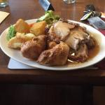 Large roast with 3 meats