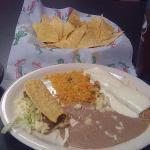Speedy Gonzalez lunch with Chicken Enchilada & Sour Cream Sauce