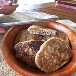 The pancakes - Cinnamon flavored - unexpectedly good!