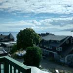 Vista desde el hotel al lago