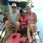 hanging out with Ruth Scott and Jada on the martha Brae River Rafting