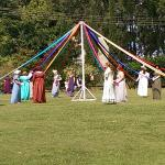Picnic at Pemberley - the Maypole dance
