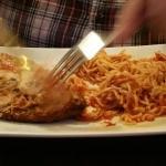 Chicken parmigiano w/ spaghetti
