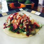 Calamari Tacos with Ajillo Salsa