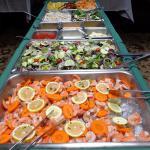 Salad Bar & Iced Shrimp