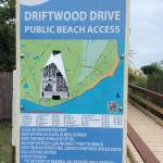 Public access tucked alongside resort