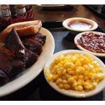 Pork Ribs, Corn & Ranch Beans